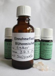 Bach-Blüten Einnahmeflasche mit Salzsole 3